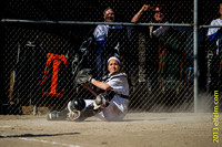 Fife High School girls fast pitch vs White River