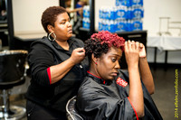01-getting-ready 140325_ Shine Bright Like a Diamond Hair Show and benefit!